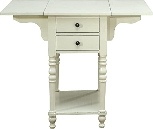 Treasure Trove Drop Leaf Two Drawer Accent Table