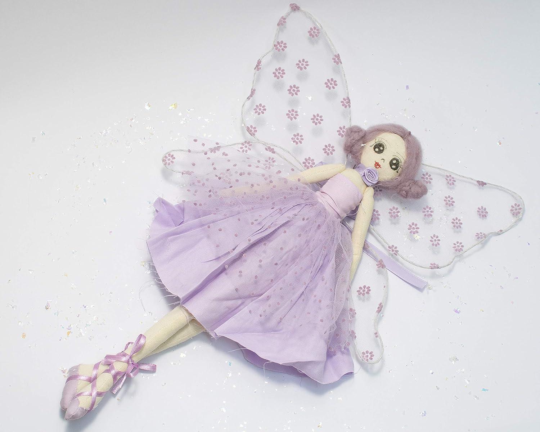 handmade signature fabric doll Luisa Purple Tilda Fairy