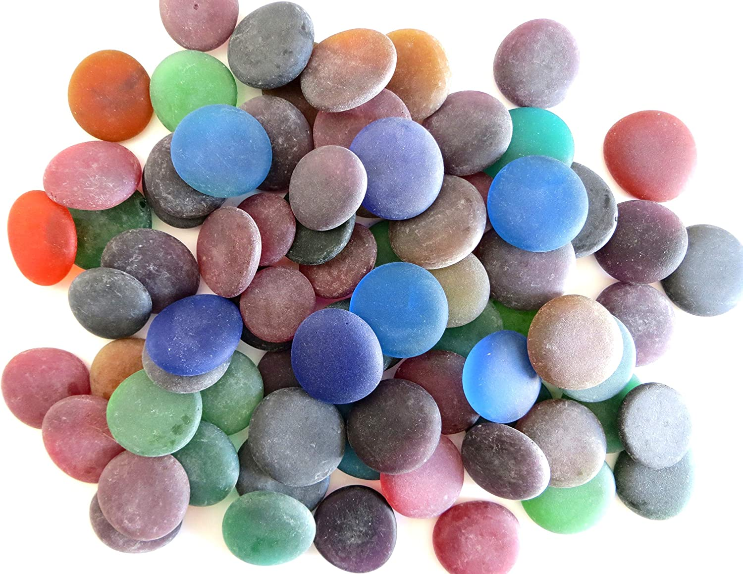 Amazon Com Sea Stones Frosted Replica Sea Glass Winter Colors 50 Oz Jar Dramatic Vibrant Large Nuggets Make Wire Wrapped Jewelry Mosaics Decorate Frames And Mirrors From Lifeforce Glass Arts Crafts Sewing