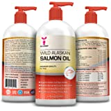 Wild Alaskan Premium Salmon Oil for Pets, 100% All Natural Unscented Omega 3 Fish Oil, Liquid Supplement for Dogs, Cats, Horses, Ferret - Helps Joint Support, Dry Skin & coat -Just Pump on Food -16oz