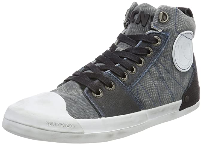 Mens Grind M Hi-Top Trainers, Blue Yellow Cab