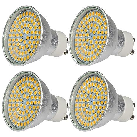 MENGS® Pack de 4 proyector de alta luminosidad GU10 6W AC 220-240V ...