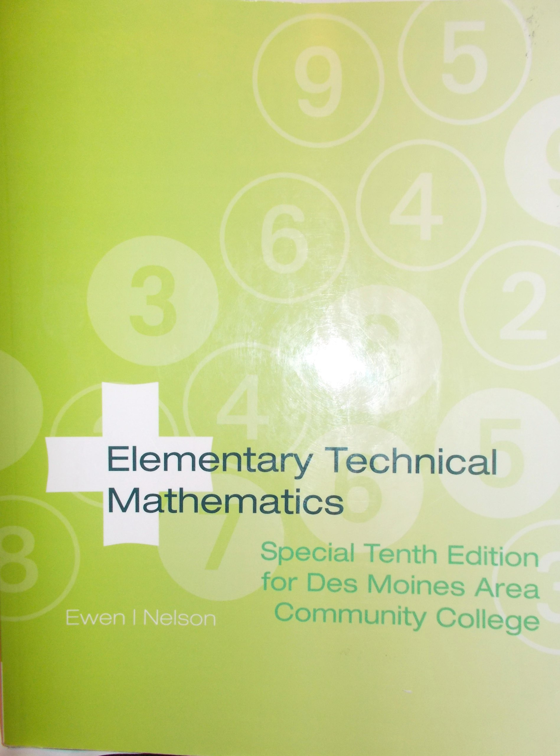 Download Elementary Technical Mathematics (Special Tenth Edition for Des Moines Area Community College) PDF