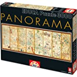 Educa Borrás - Puzzle con diseño panorama mapamundi, 3000 piezas (16355)