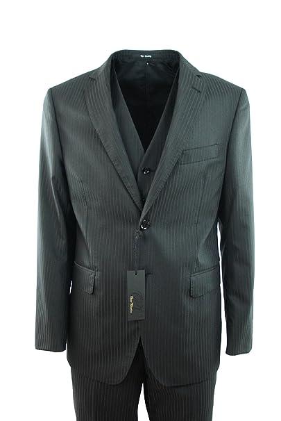 Oscar Valentino - Traje - para hombre negro Black gray ...