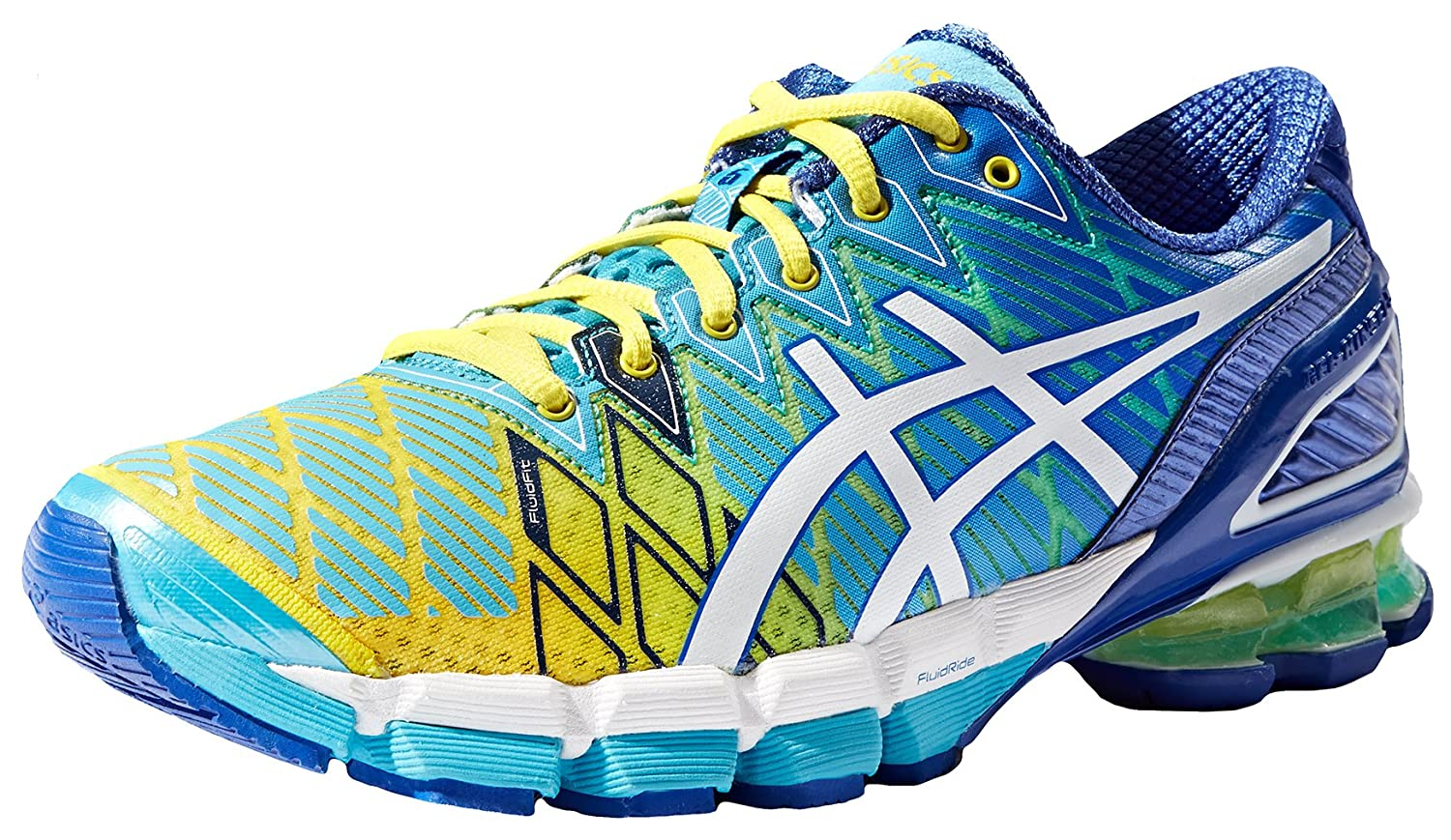 promo code 12ef9 ecc3b ASICS Women s Gel-Kinsei 5 Running Shoe,Yellow White Turquoise,9.5 M US   Amazon.in  Shoes   Handbags