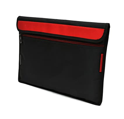 Saco Stylish Soft Durable Pouch for Lenovo Miix 3 10.1 inch Touchscreen 2 in 1 Laptopwith Shoulder Strap  Red Bags   Cases