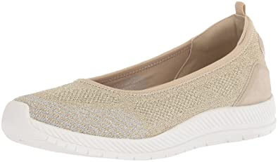 Easy Spirit Womens GEINEE Ballet Flat, Gold, ...