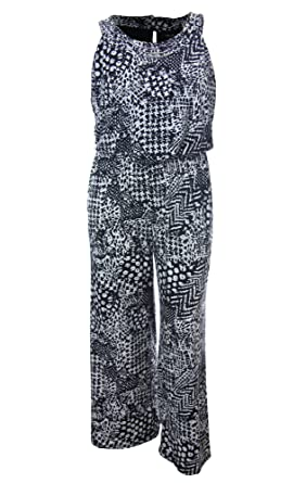 558a8253c60 Image Unavailable. Image not available for. Color  Style   Co Women s Plus  Sleeveless Printed Jumpsuit size 0x Geo Scope