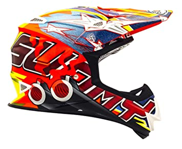 Suomy Casco Motocross MR Jump Shots, Multicolor (Shots Orange), XL