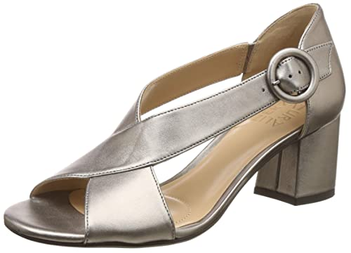 a28ba6233fbd Naturalizer Women s Caden Grey Leather Fashion Sandals-4 UK India (37 EU)