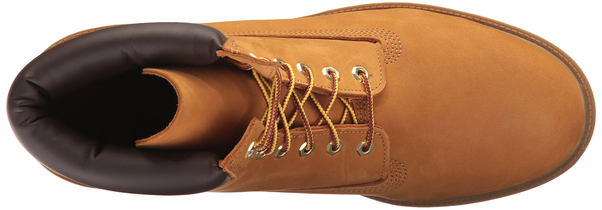 Timberland Men's 6'' Basic Contrast Collar Boot, Wheat Nubuck, 11 M US