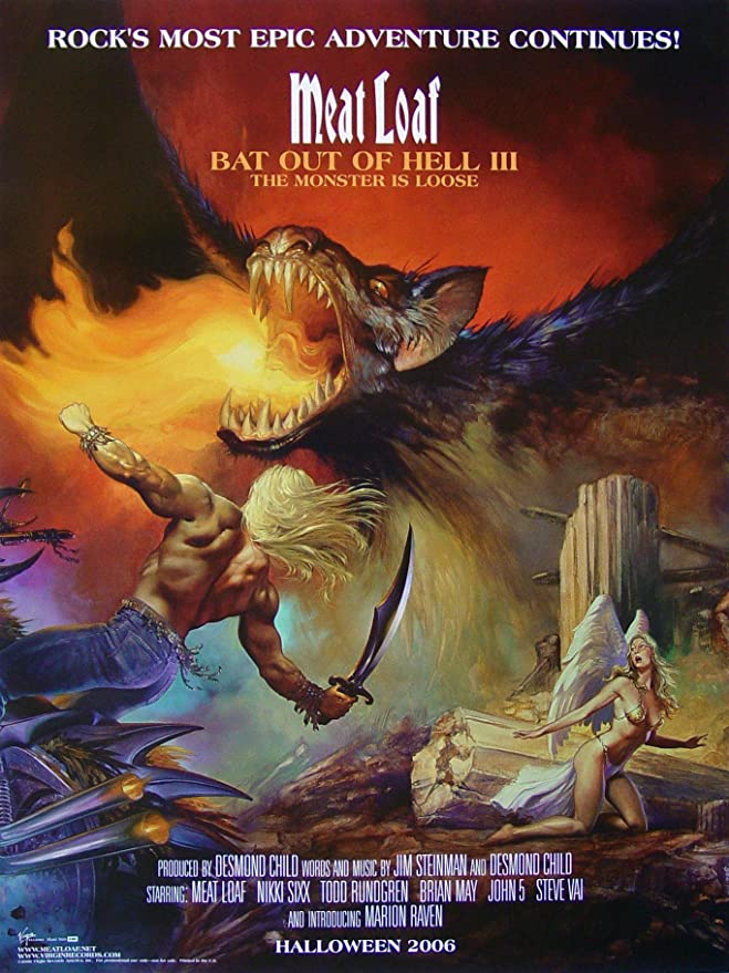 Splatter Art Print Meatloaf Bat Out Of Hell