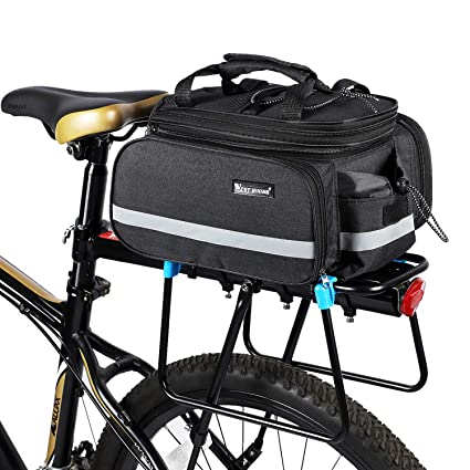 Outdoor Pack Shoulder Tail Saddle Bag Bike Seat Rear Pouch Luggage Carrier