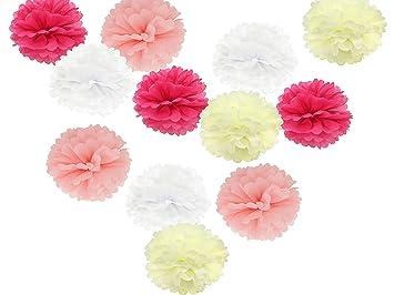 unidades para colgar pauelos de papel pompones flores para boda fiesta baby shower decoracin