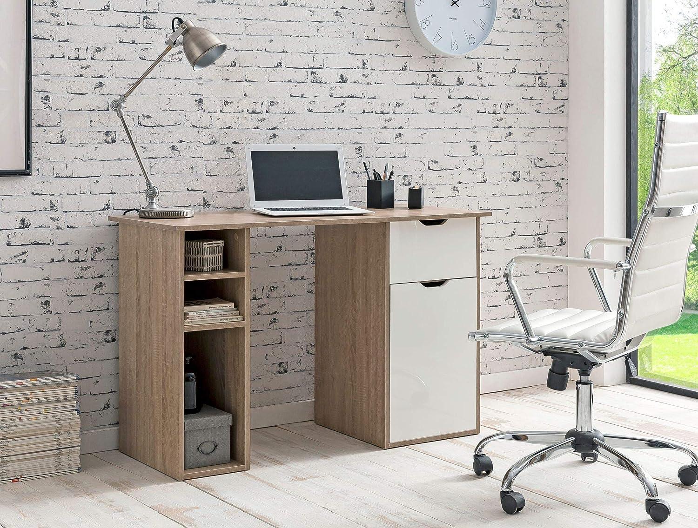 FineBuy Kommode Schiebetürenschrank Büro Aktenschrank Sideboard 60 cm Breit Weiß