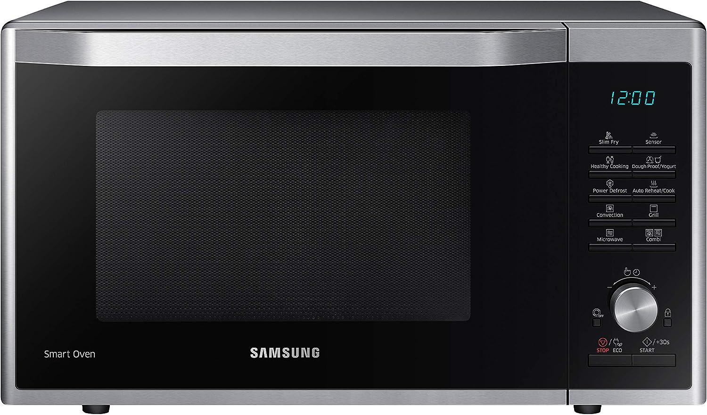 Samsung MC32J7055CT Encimera - Microondas (Encimera, Microondas combinado, 32 L, 900 W, Botones, Giratorio, Acero inoxidable)