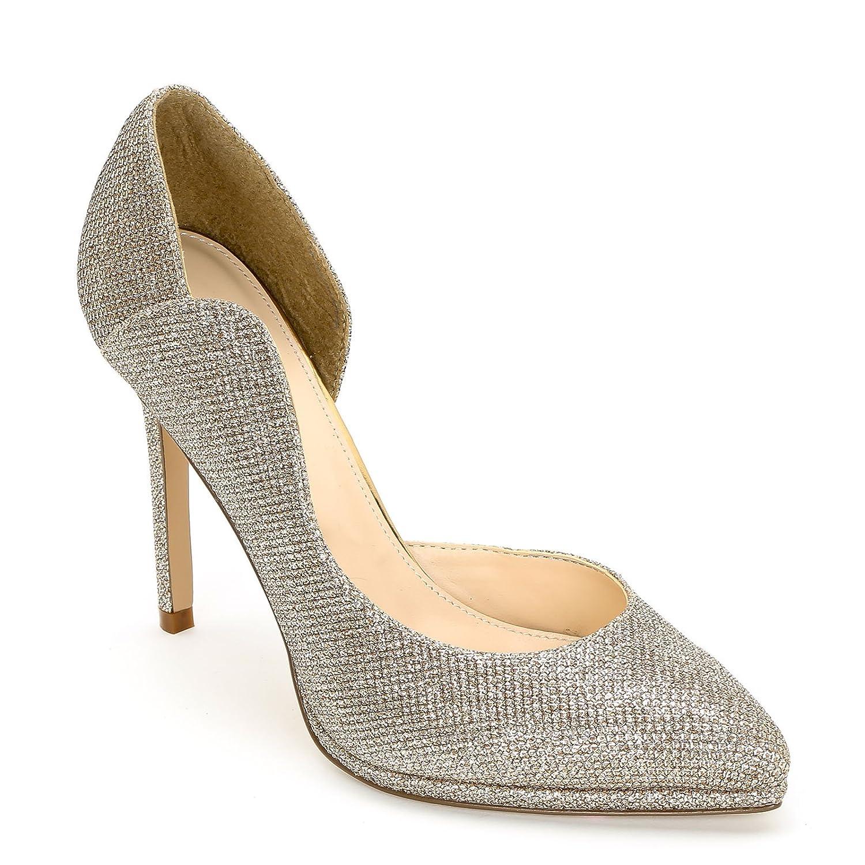 ALESYA by Scarpe&Scarpe - Zapatos de salón con Punta Alargada y Abertura Lateral 37 EU|Bronzo