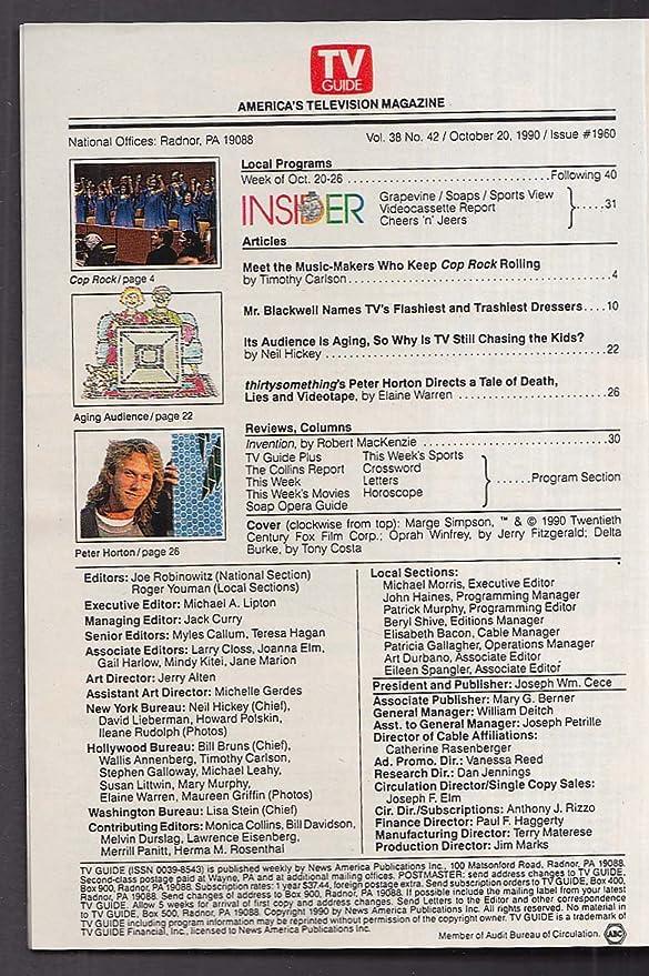TV GUIDE Marge Simpson Oprah Delta Burke + 10/20 1990