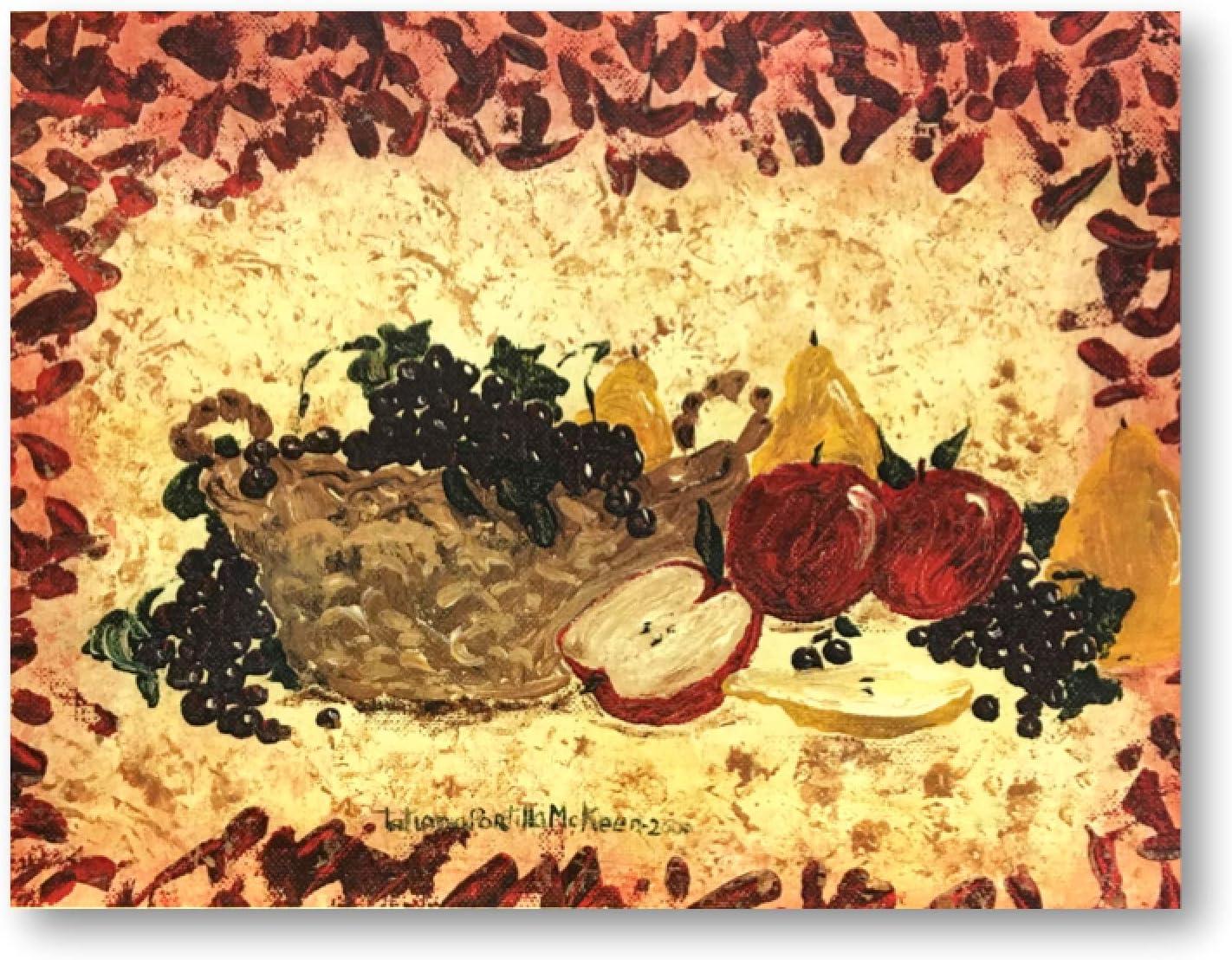 Best Kitchen Pictures GIF Ideas Unique Colorful Vintage WallDeco Fruit Basket Red Border Apples Grapes Candle tatianaslabel 11X14 Num 24