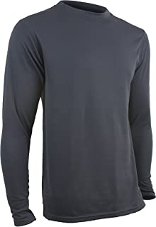 product image for Polarmax Men's Double Base Layer Long Sleeve Crew Tee (Arctic Grey)