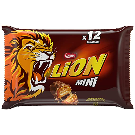 Nestlé LION Mini Chocolate y Caramelo - Barritas chocolate y caramelo 24x250g