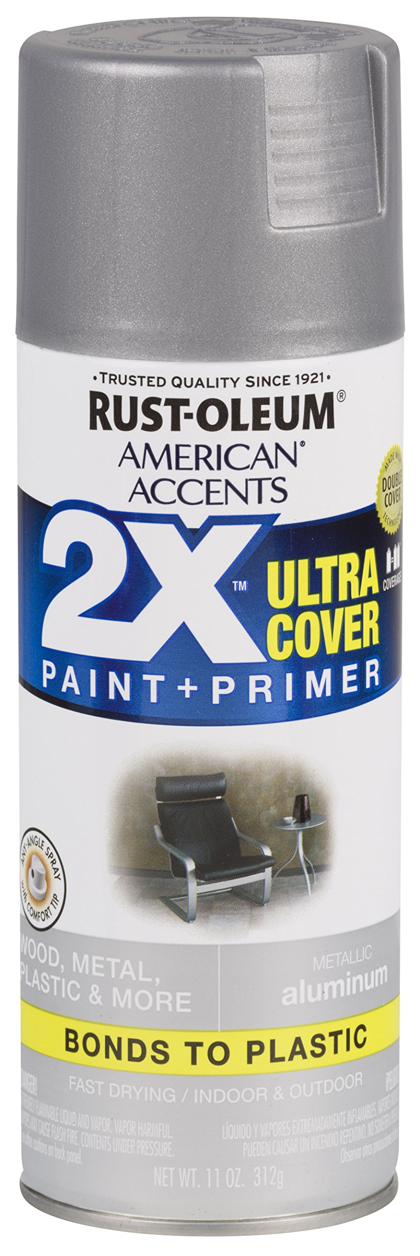 Rust-Oleum 327907-6 PK American Accents Spray Paint, Aluminum