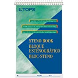 """TOPS Steno Books, 6"""" x 9"""", Gregg Rule, Green Tint Paper, 80 Sheets, 12 Pack (8021)"""