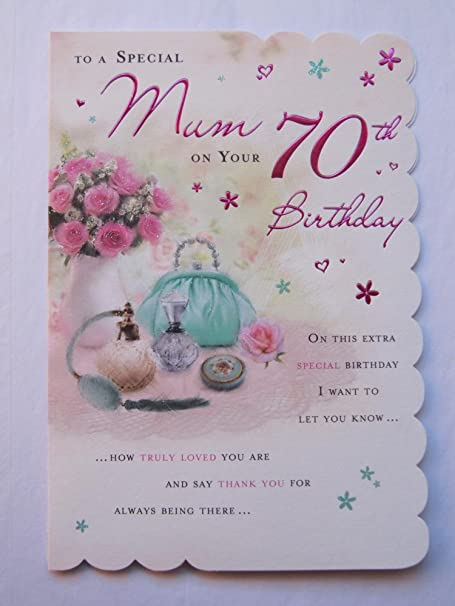 STUNNING TOP RANGE BEAUTIFULLY WORDED MUM SEVENTY 70TH BIRTHDAY GREETING CARD