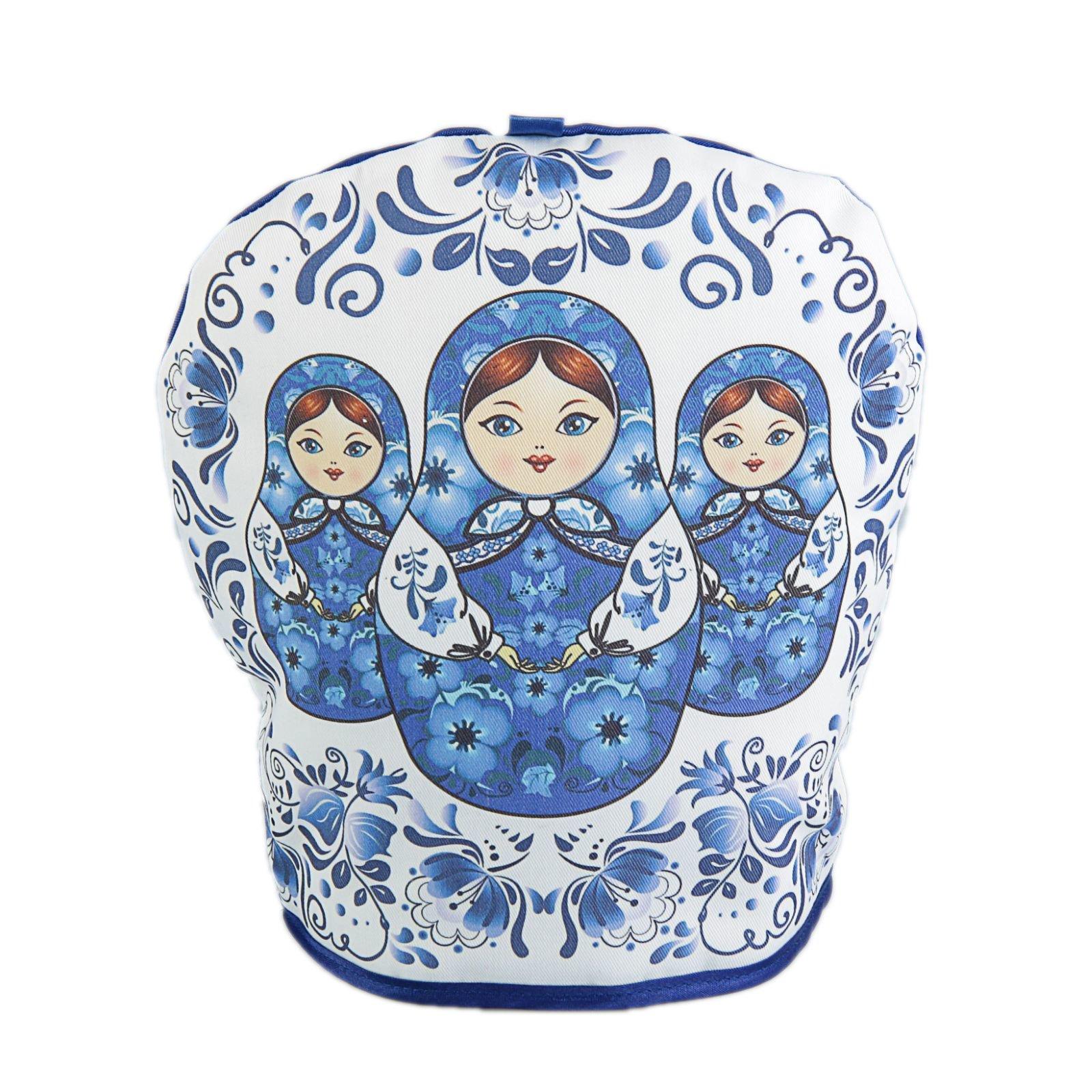 Russian Matryoshka Tea Cozy Gzhel