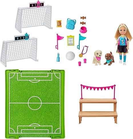 Barbie y sus hermanas fubolistas muñecas con accesorios, regalo para niñas y niños 3-9 años (Mattel GHK37) , color/modelo surtido