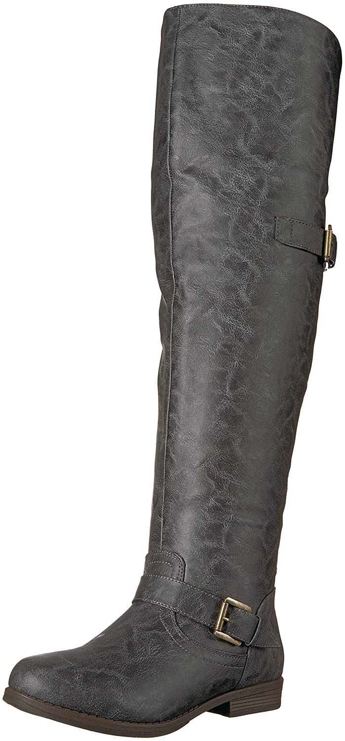 Brinley Co Women's Sugar Over The B(M) Knee Boot B013VP7ADA 7.5 B(M) The US|Grey 9790e8