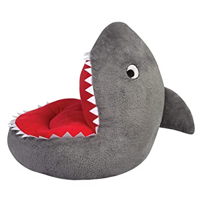 Trend Lab Children's Plush Shark Character Chair Seating Kids Ocean, Grey: Kitchen & Dining