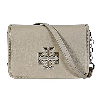e96ce7fd795 Tory Burch Britten Mini Cross Body Bag French Grey 39053  Handbags   Amazon.com
