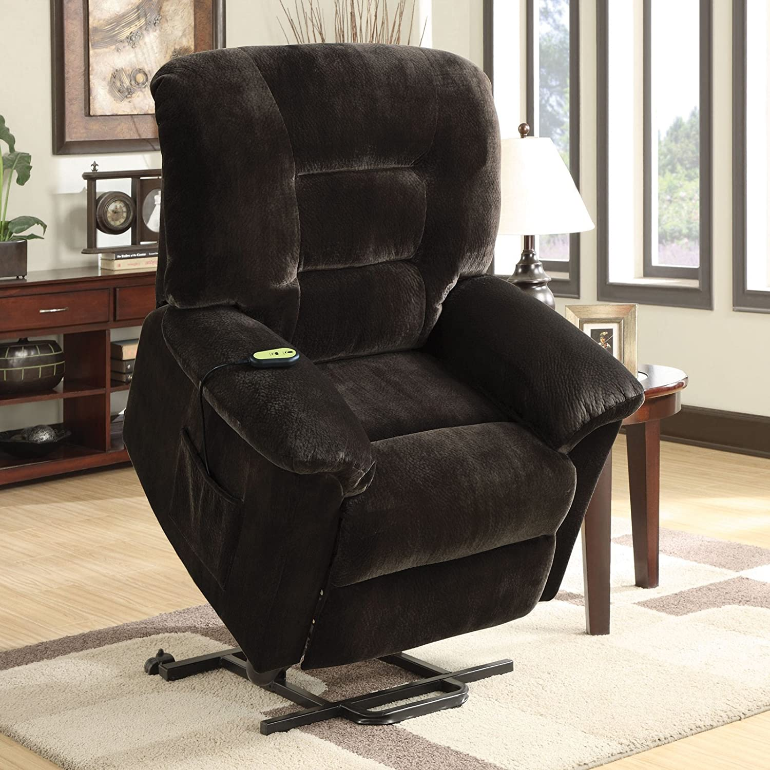 Amazon Coaster Power Lift Recliner Chocolate Kitchen & Dining
