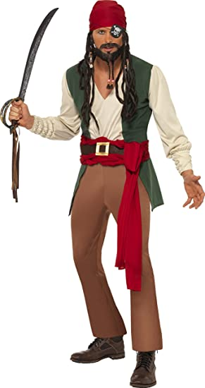 Smiffys - Disfraz de pirata del caribe para hombre, talla M ...