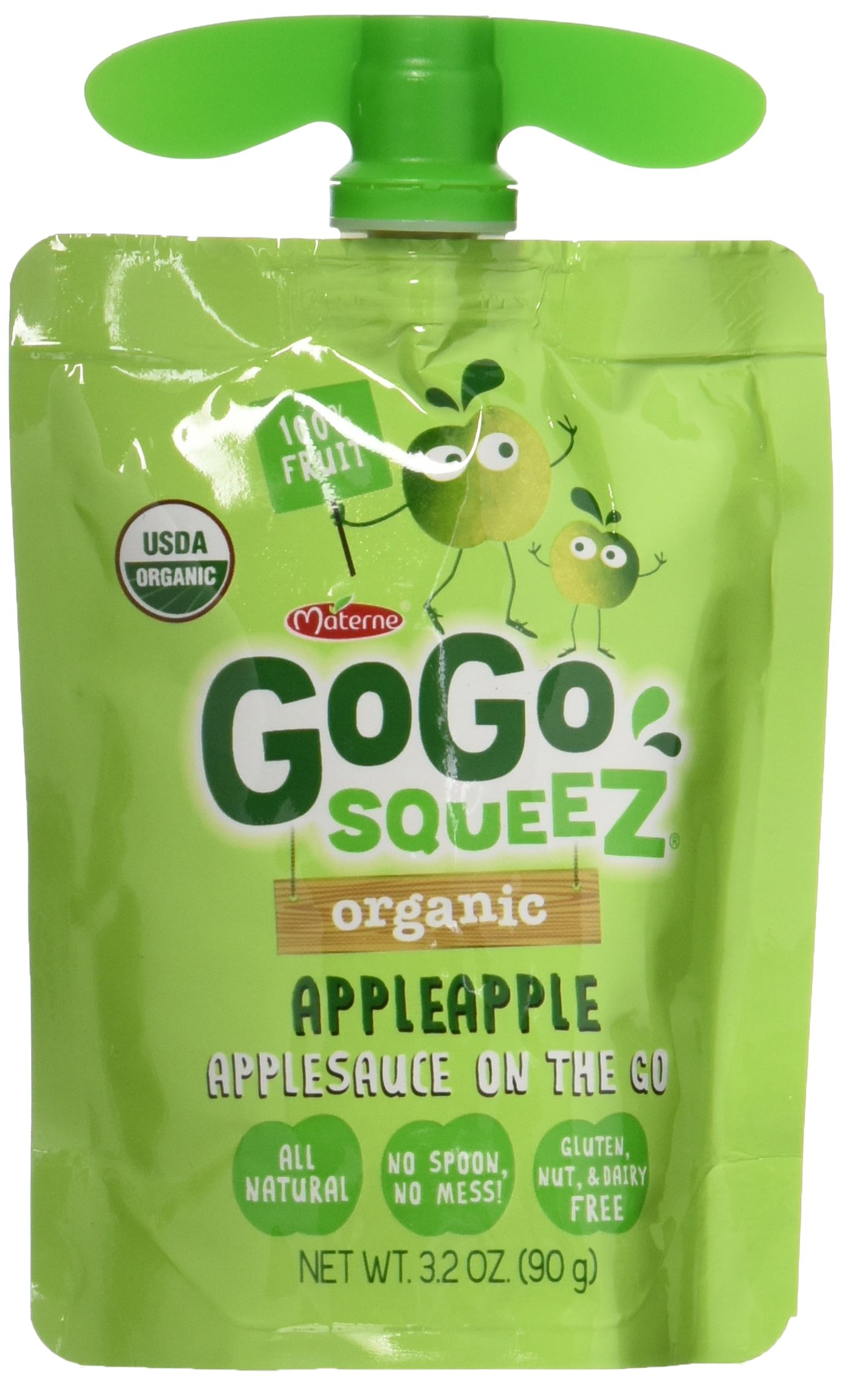 GoGo Squeeze Organic Apllesauce On The Go Apple Apple