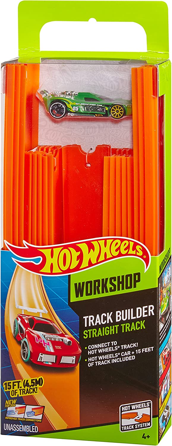New Hot Wheels track lot of 12 pieces 9 inch long with connectors