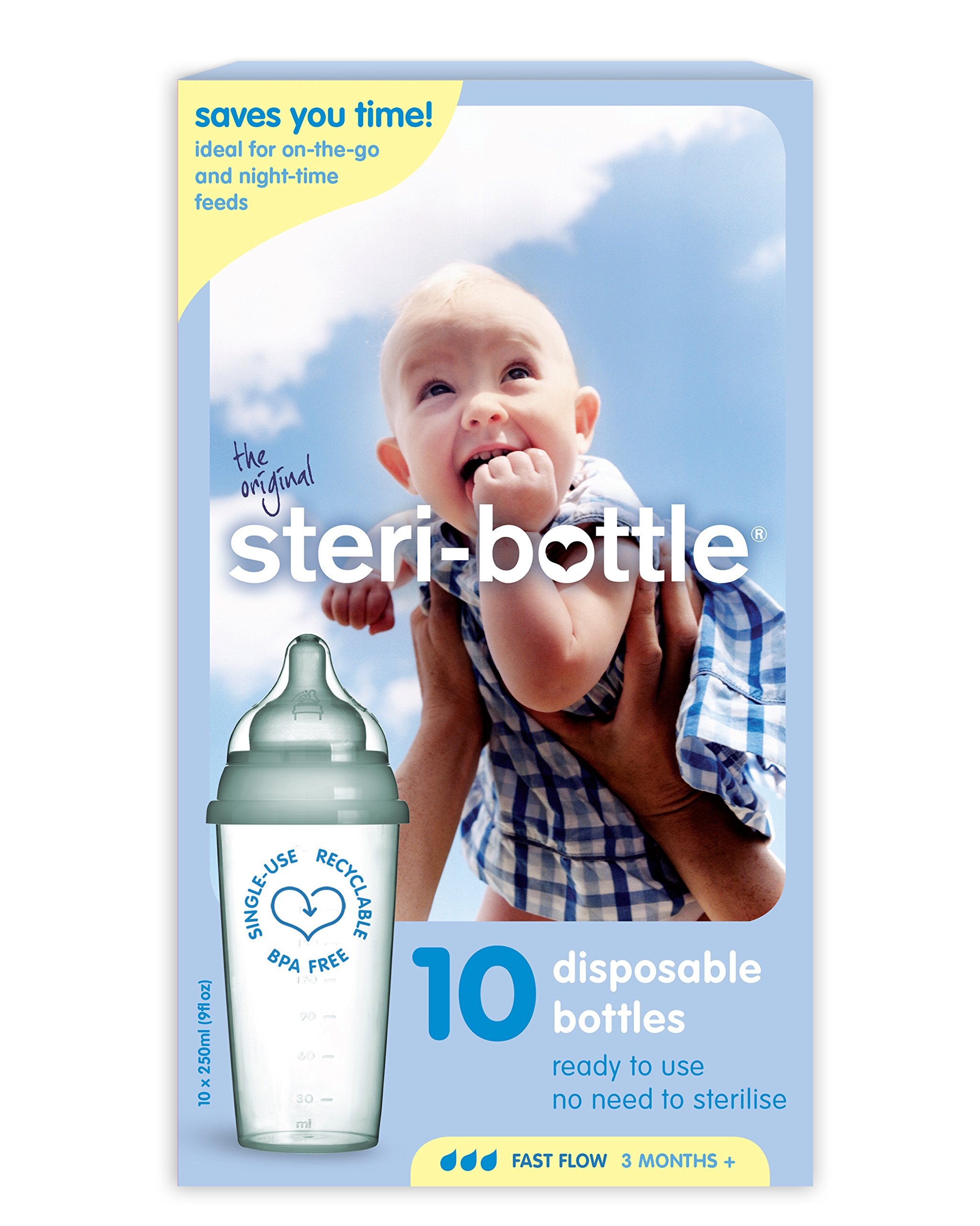 Dr Brown's Baby Feeding Disposable Steri-Bottle, Pack of 7