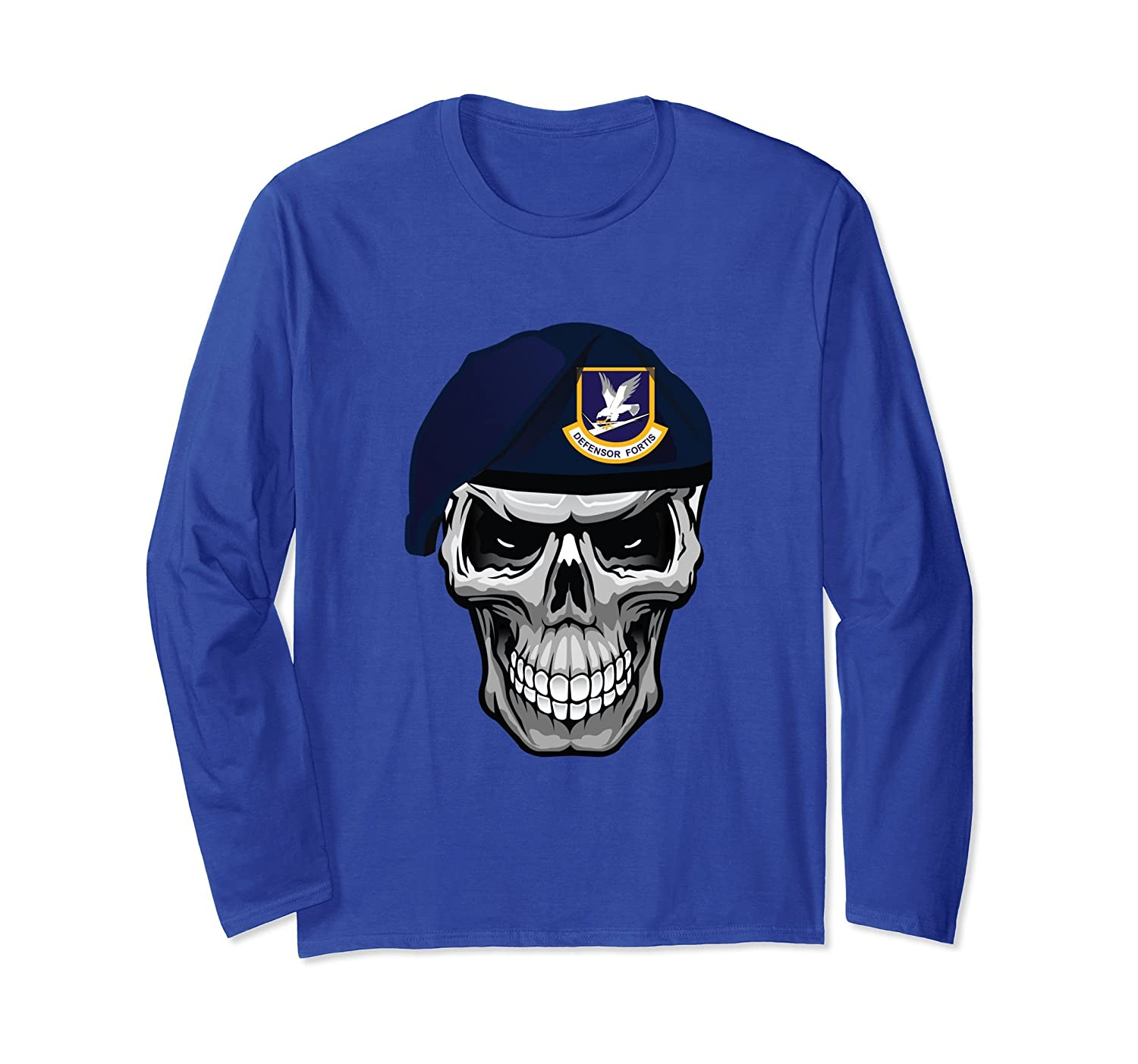 Air Force Security Forces Defender Skull Beret Long Sleeve-mt