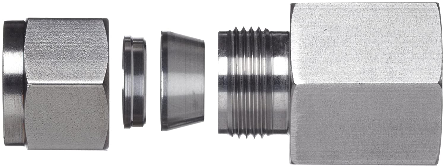 Straight Adapter 1//2 Tube OD x NPT Female Brennan N2405-08-08-SS Stainless Steel Compression Tube Fitting