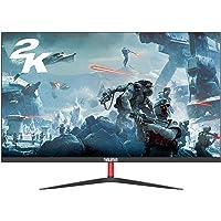 Monitor 24 Pulgadas 2560x1440P Monitores PC Gaming de Pantalla Ancha sin Marco 2K (100% sRGB, Puerto HDMI y VGA, Tiempo…