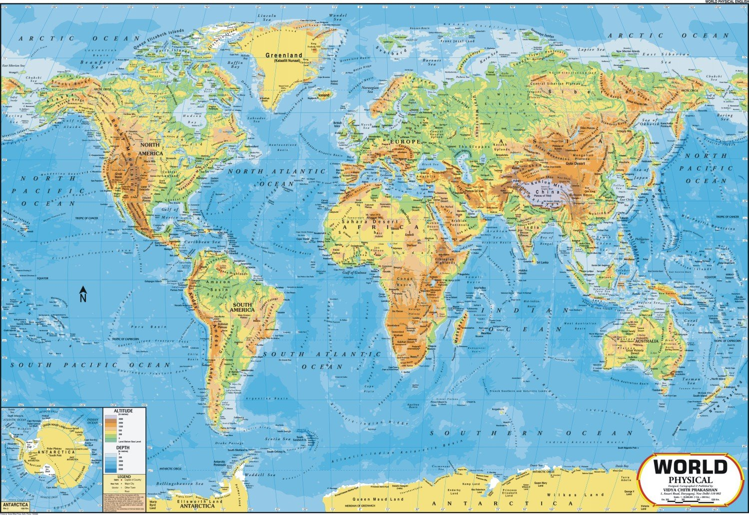 Buy World Map - Physical (100 x 70 cm) Book Online at Low Prices in ...