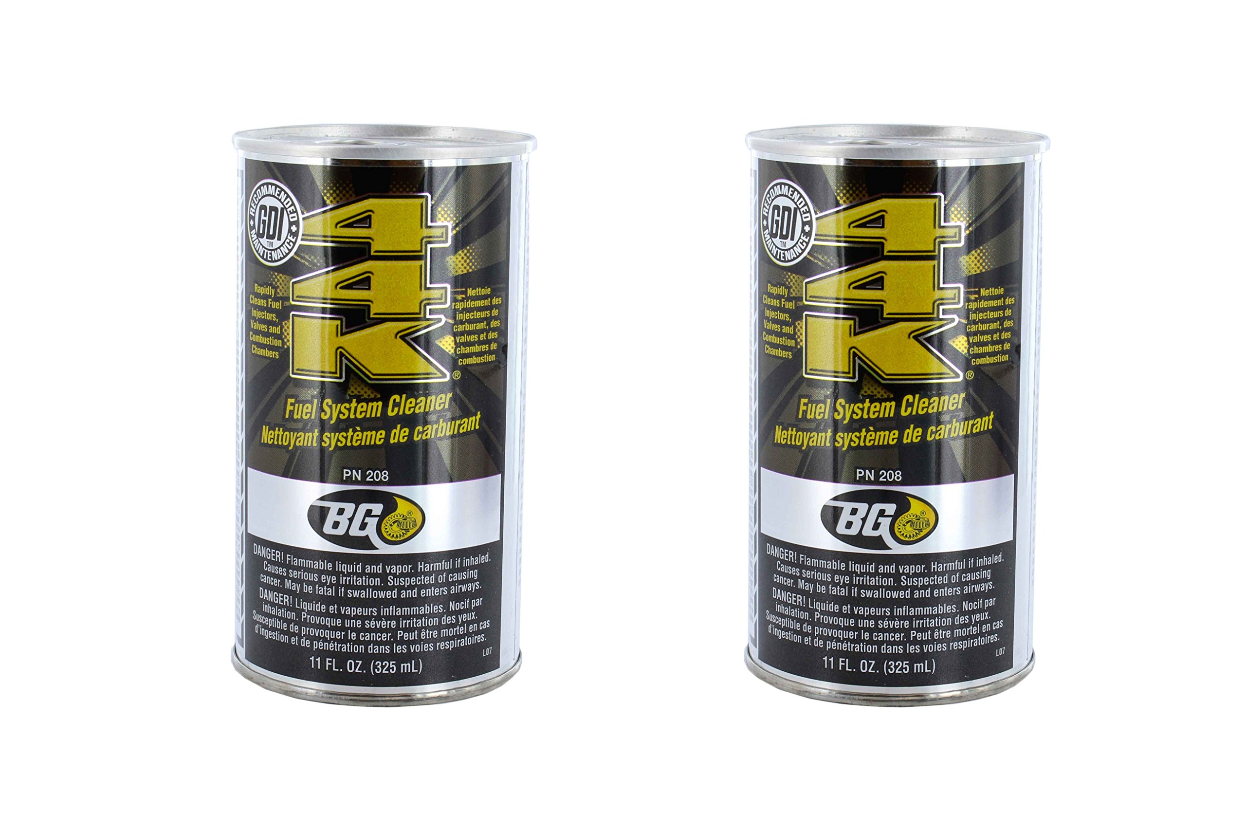 BG 44K Fuel System Cleaner Power Enhancer 2 Pack 11oz can by BG