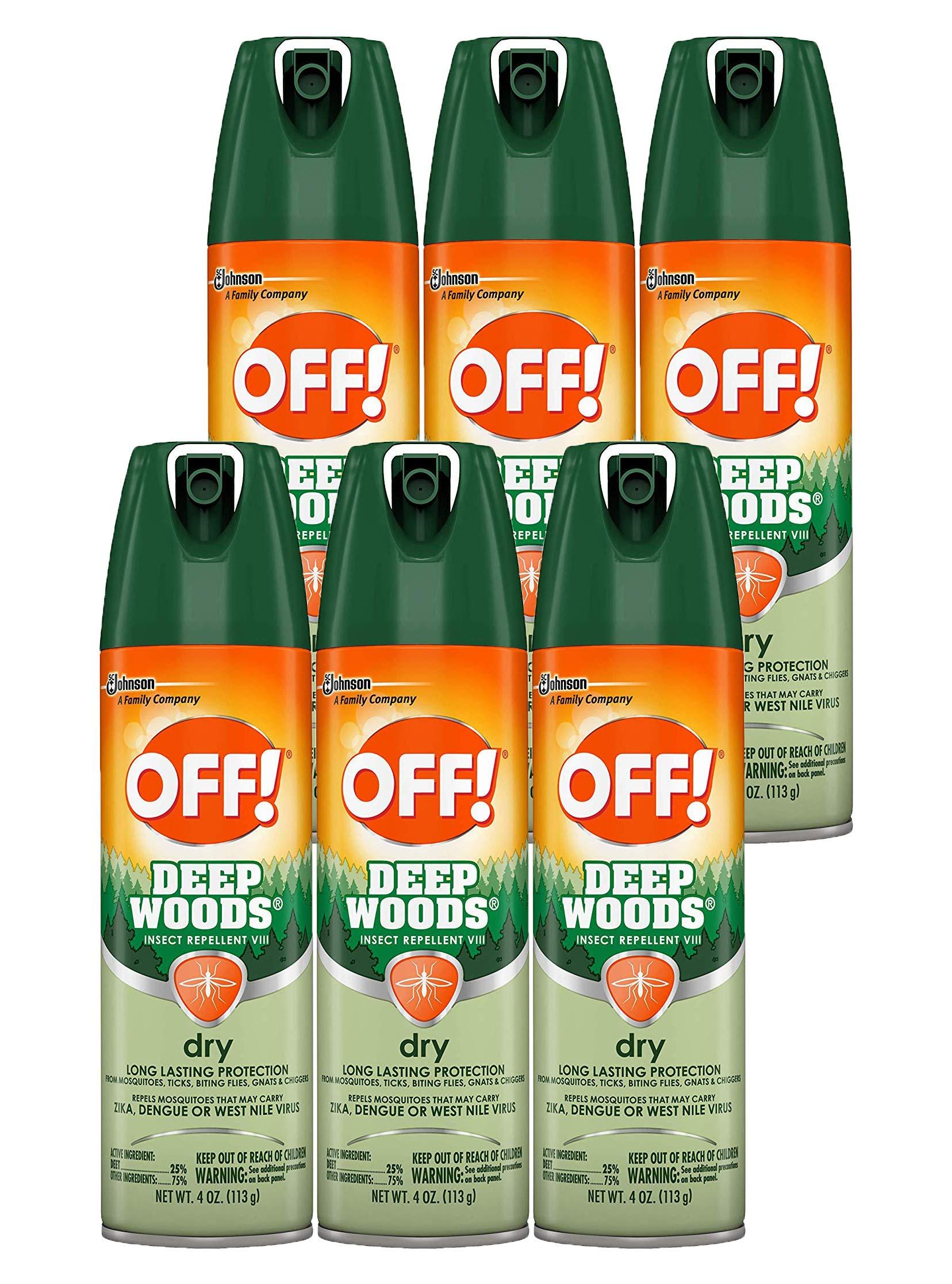 OFF! Deep Woods Dry Aerosol, 4 OZ (Pack - 6)