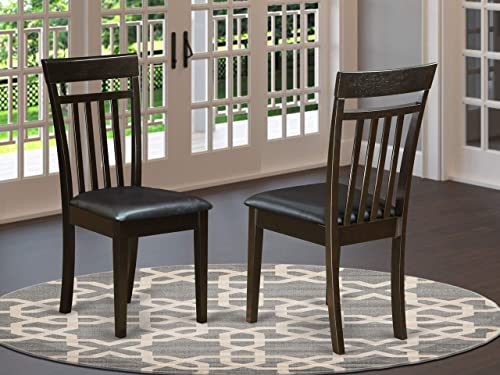 East West Furniture Capri Dining Chairs Set of 2