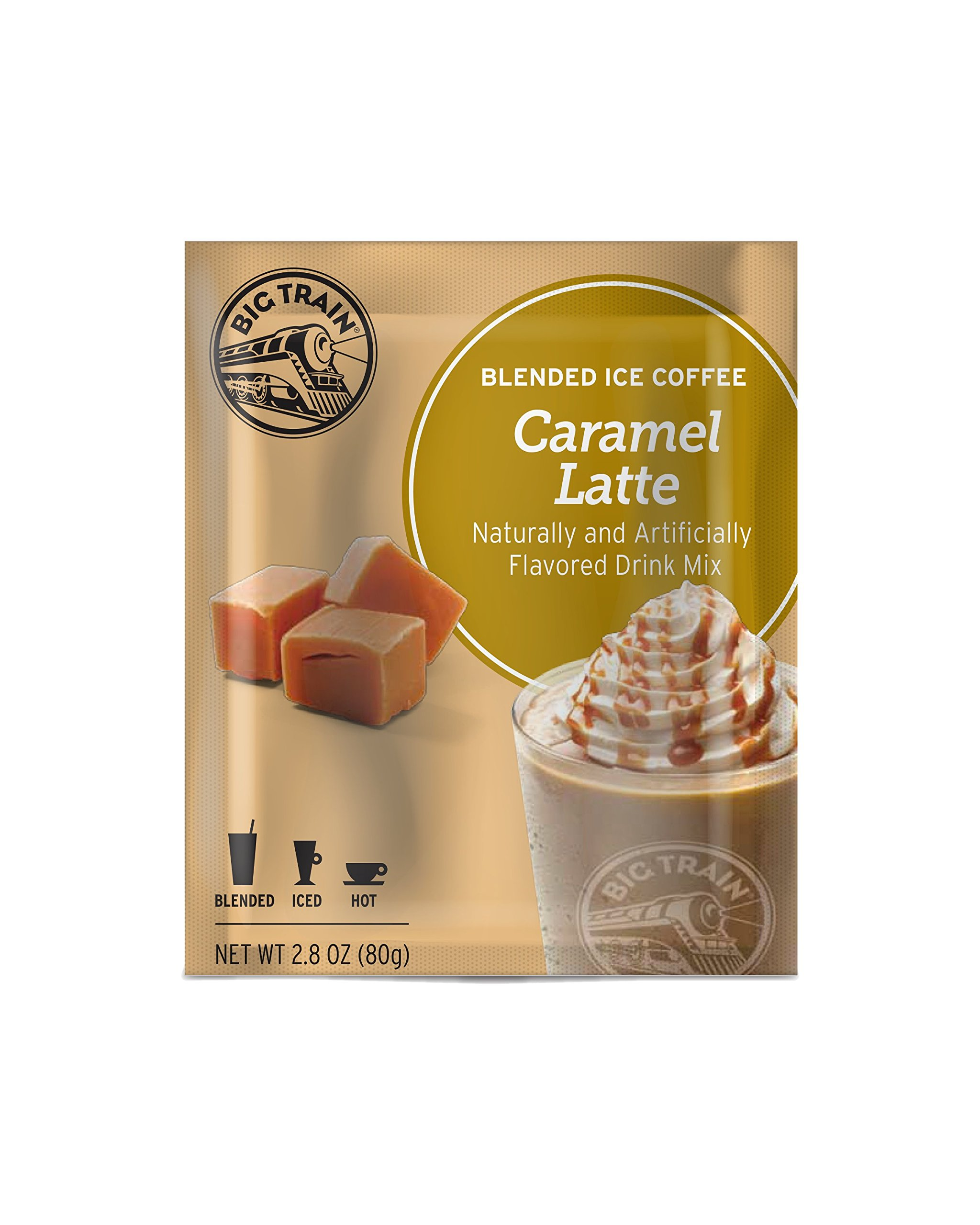 Big Train Blended Ice Coffee, Caramel Latte, 2.8-Ounce Bags (Pack of 25)
