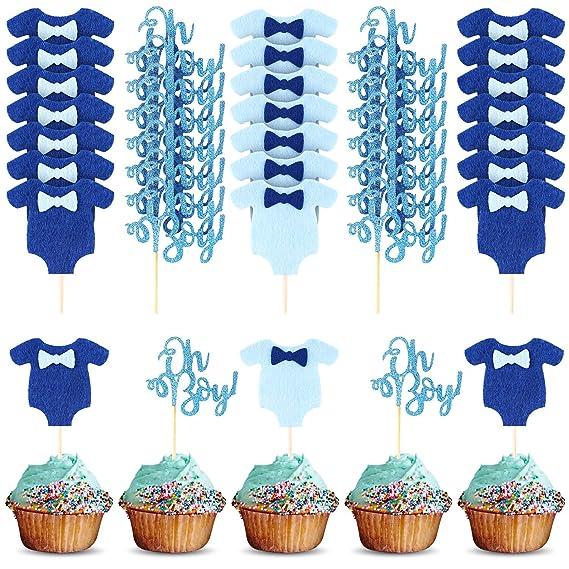 40 decoraciones para cupcakes con purpurina para niños y 40 ...