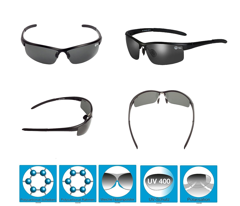 Nexi S20BP Cobra Sonnenbrille ideal als Sportbrille oder Fahrradbrille für Herren und Damen mit Polarisation O5eN8MMS83