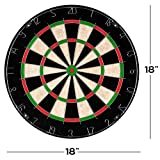 Bristle Dart Board, Tournament Sized Indoor Hanging Number Target Game for Steel Tip Darts- Dartboard with Mounting Hardware by